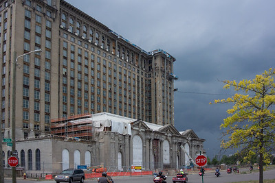 Old train station, now owned by Ford Motor Co and under renovation.