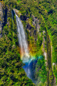 Stirling Falls, Milford Sound, New Zealand