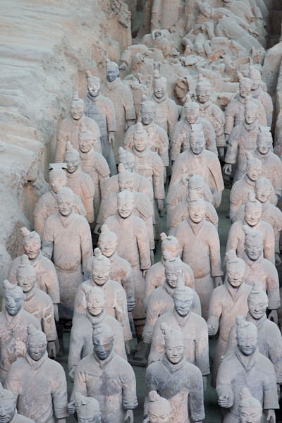 The Terracotta Army of Qin Shi Huangdi, first emperor of unified China, 220s B.C.