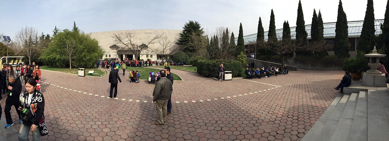 Panoramic picture of the building at the Terracota Warriors