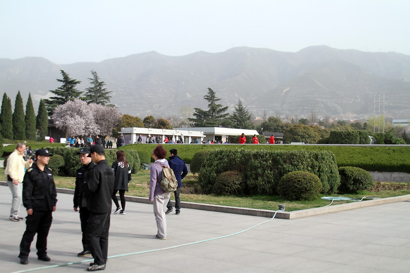 Taken at the Terracota Warrior site, here you can see the nearby mountains which are not visible from in the city.