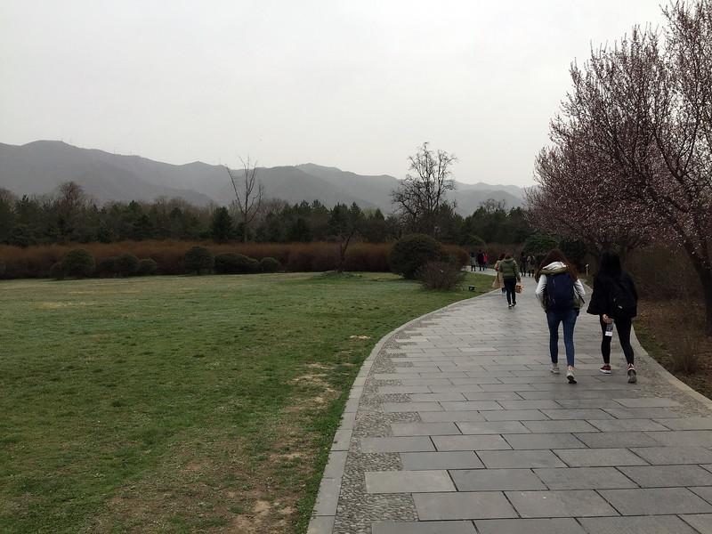 Walking into the Terracota Warrior site