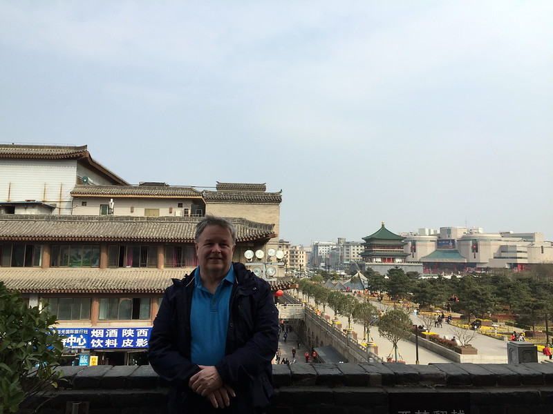 Me in old downtown Xi'an. Taken at the Drum House looking toward Bell house