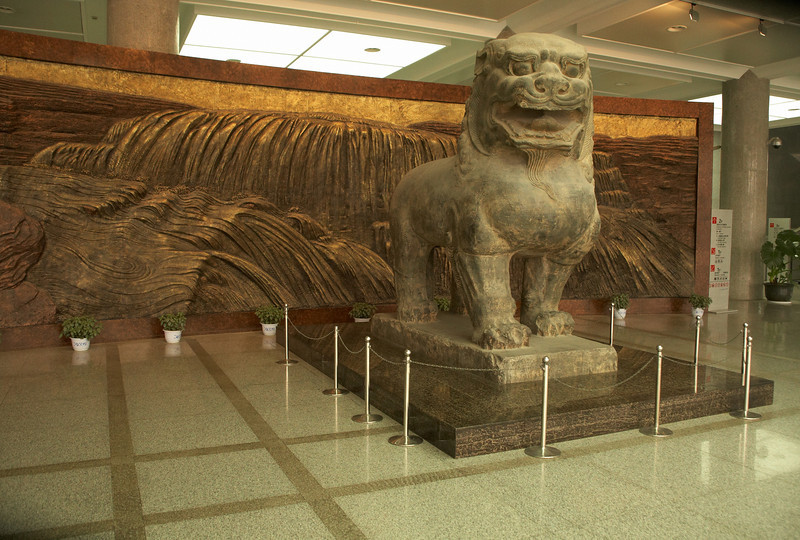 Just inside the entrance of the Shaanxi Museum. Highly recommend this museum, has a lot of very well organized exhibit and hosts many valuable pieces.