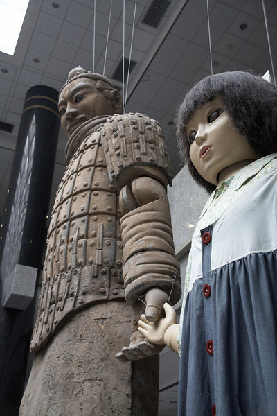 "This is a closer look of the Warrior and the Girl. For more info, go <a href=""http://www.jnj.com.cn/olympics/en/tcw/index.htm?id=4"">here</a>."
