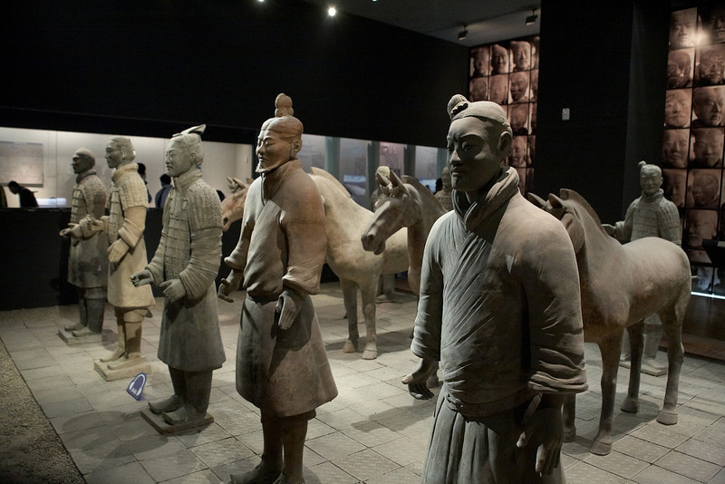 Replicas of the terracotta warriors.