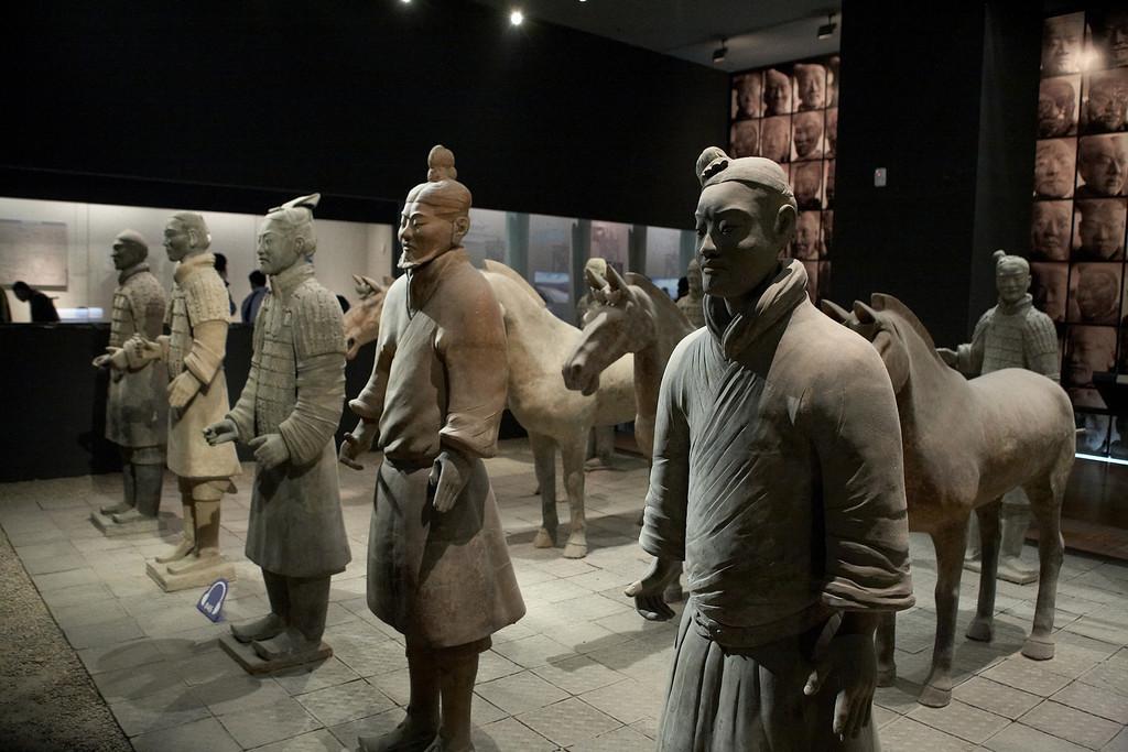 Replicas of the terracotta warriors.