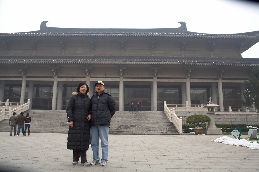 The Shaanxi Museum in Xi'an. Xi'an was chosen as the capital by many emperors, was the center of the culture and economy from 1046BC to 907AD.
