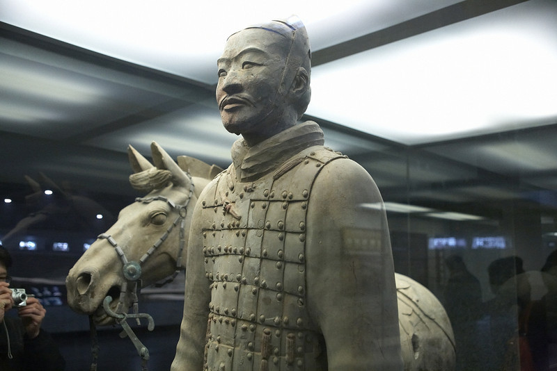 All terracotta figures are life sized.