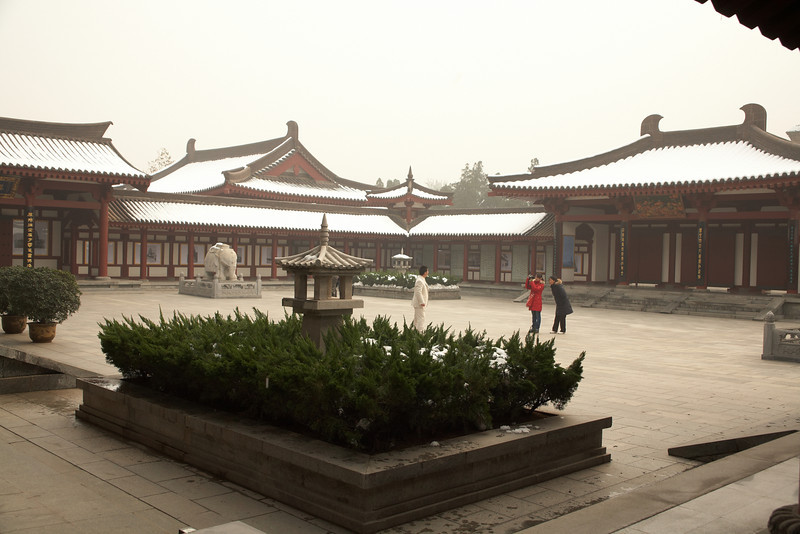 On the grounds of the Da Ci'en Temple.