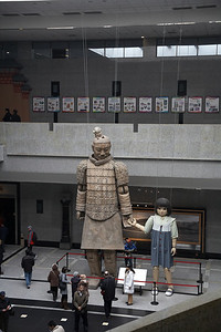 "Inside the museum are the giant puppets used for a performance titled ""The Warrior and the Girl"" during the 2008 Olympics. The warrior puppet is 22 feet tall."