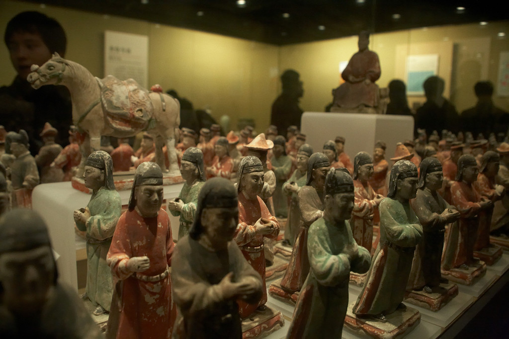 If I remember correctly. these figures are from the Tang Dynasty.