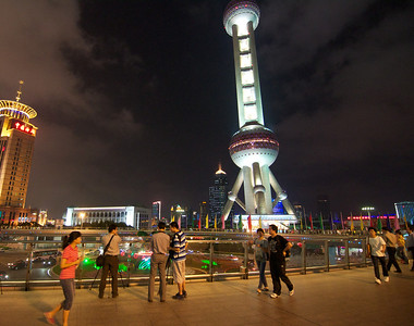 LuJiaZhui (陆家嘴) in Shanghai. The Shanghai Oriental Pearl TV Tower.