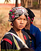 Young Akha Girl At BiWeekly Market in Xieng Kok, Laos