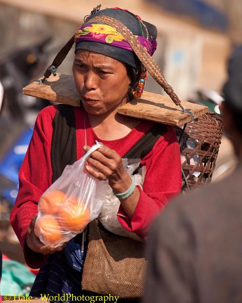 Akha Woman Chewing Betel Nut