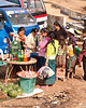 Villagers Getting A Shaved Ice Treat On Market Day
