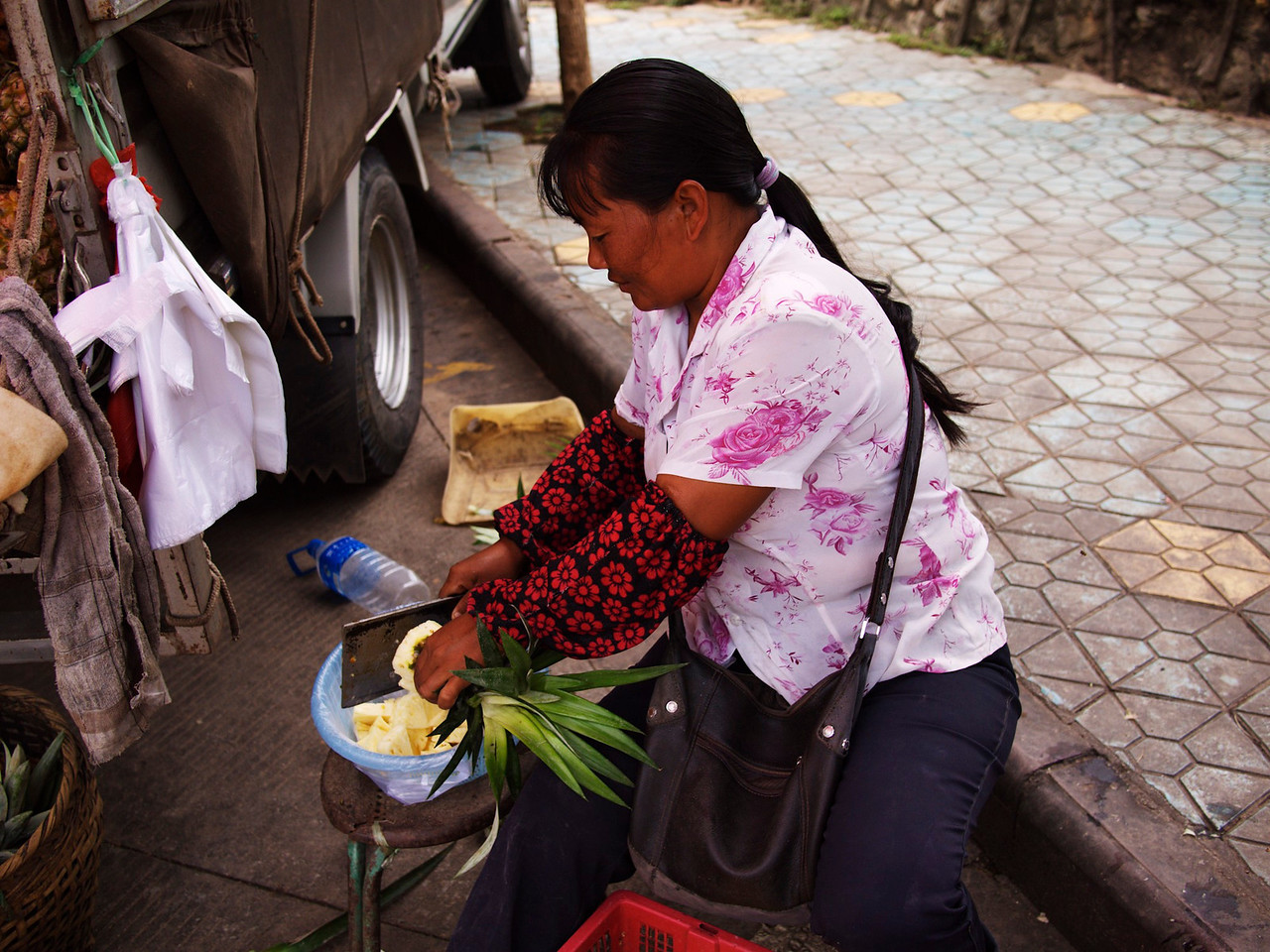 fresh pineapple everywhere!