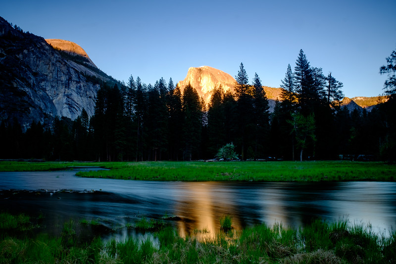 SUNSET VIEW OF HALF DOME