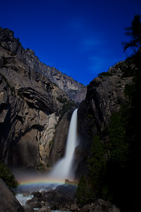Moonbow with Lower Falls