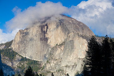 Clouds on half dome