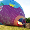 Hot air ballon being readied