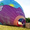 Hot air ballon being readied