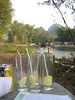 Ah, 1st completed round of gin & tonics by the Yulong River after a long travel day.