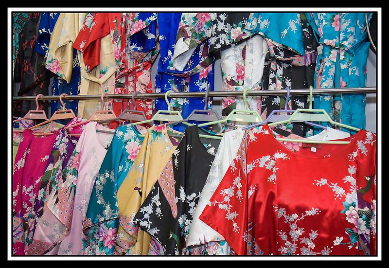 Silk dresses...