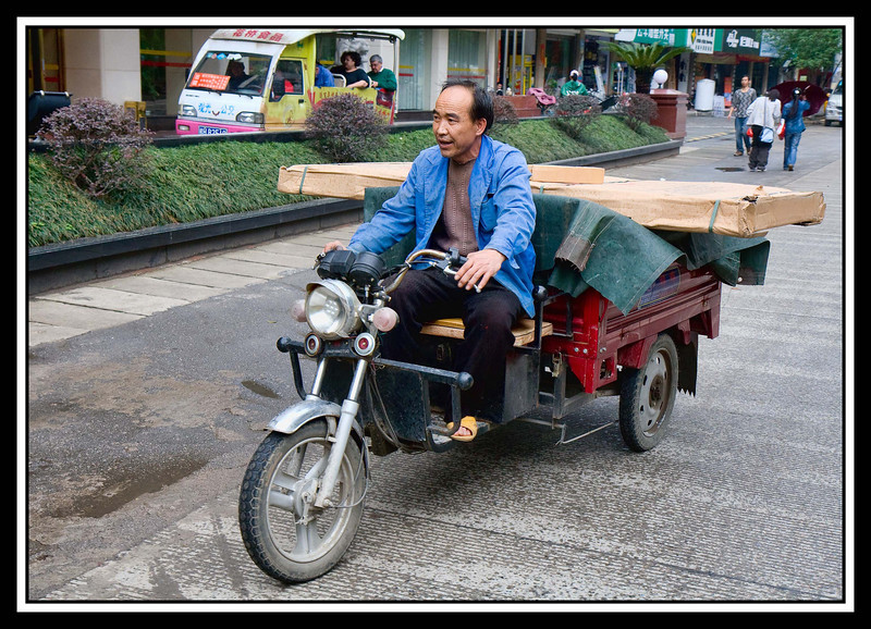 Motorcycle delivery man...