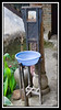 Courtyard wash basin and mirror...