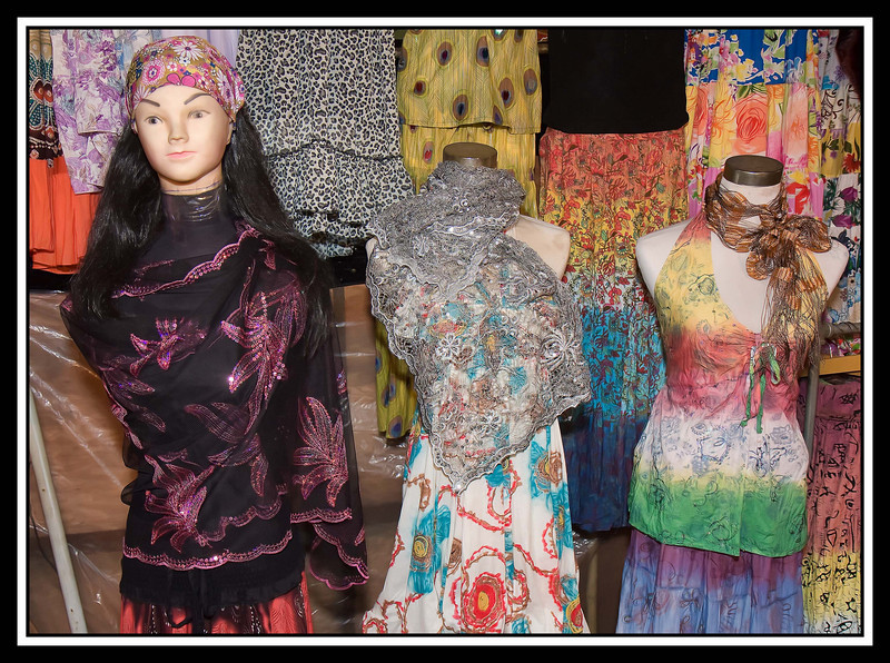 Night Market - silk scarves...