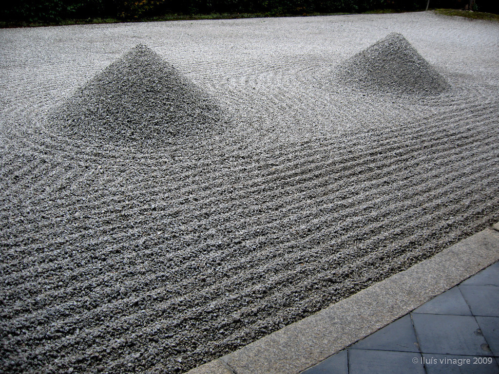 jardín zen del templo de daisenin, daitokuji, kyoto / 大仙院、大徳寺、京都