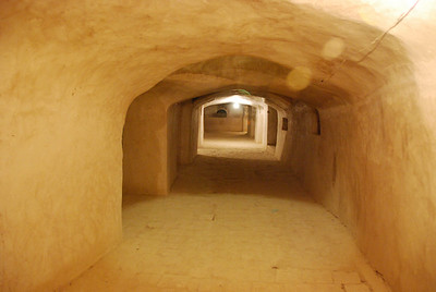 The underground mosque in Naim.