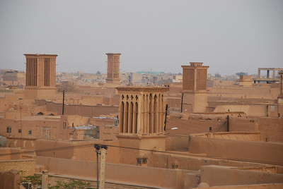 Windtowers in the old section of Yazd.
