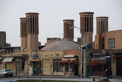 Windtows called badjirs, in Yazd.