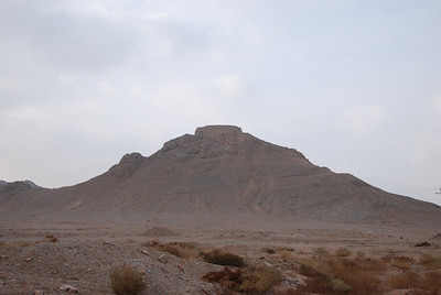 A 'Tower of Silence', where  Zoroastrians left their dead to be disposed of by birds of prey.  The bones were later removed and put into tombs.  This practice continued until the 1960s when suburbia approached and there were several unfortunate incidents when birds dropped what they were carrying from the Tower of Silence onto the houses below.....