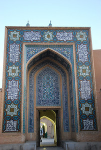 The entrance to the Jamah Mosque.