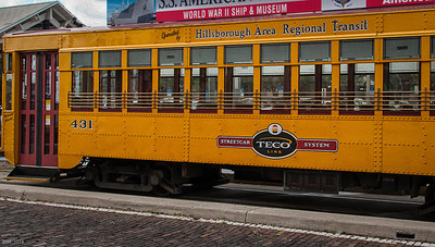 Streetcar in Ybor City  Apr 2013