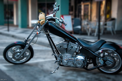 Motorcycle parked in Ybor City Fl Dec 2012
