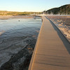 Walking approach to Grand Prismatic Spring, Yellowstone National Park.