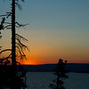 Sunset in Yellowstone Lake, Yellowstone National Park