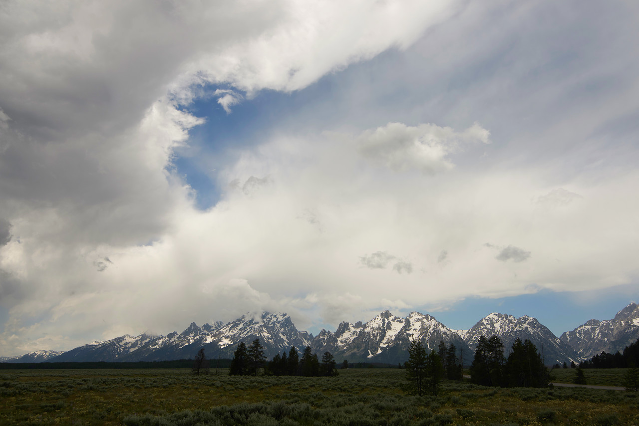 Grand Tetons from Potholes Turnout