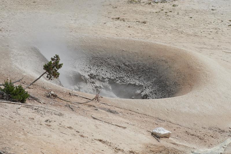 Fumerol in Sulphur Caldron, Mud Valcano area