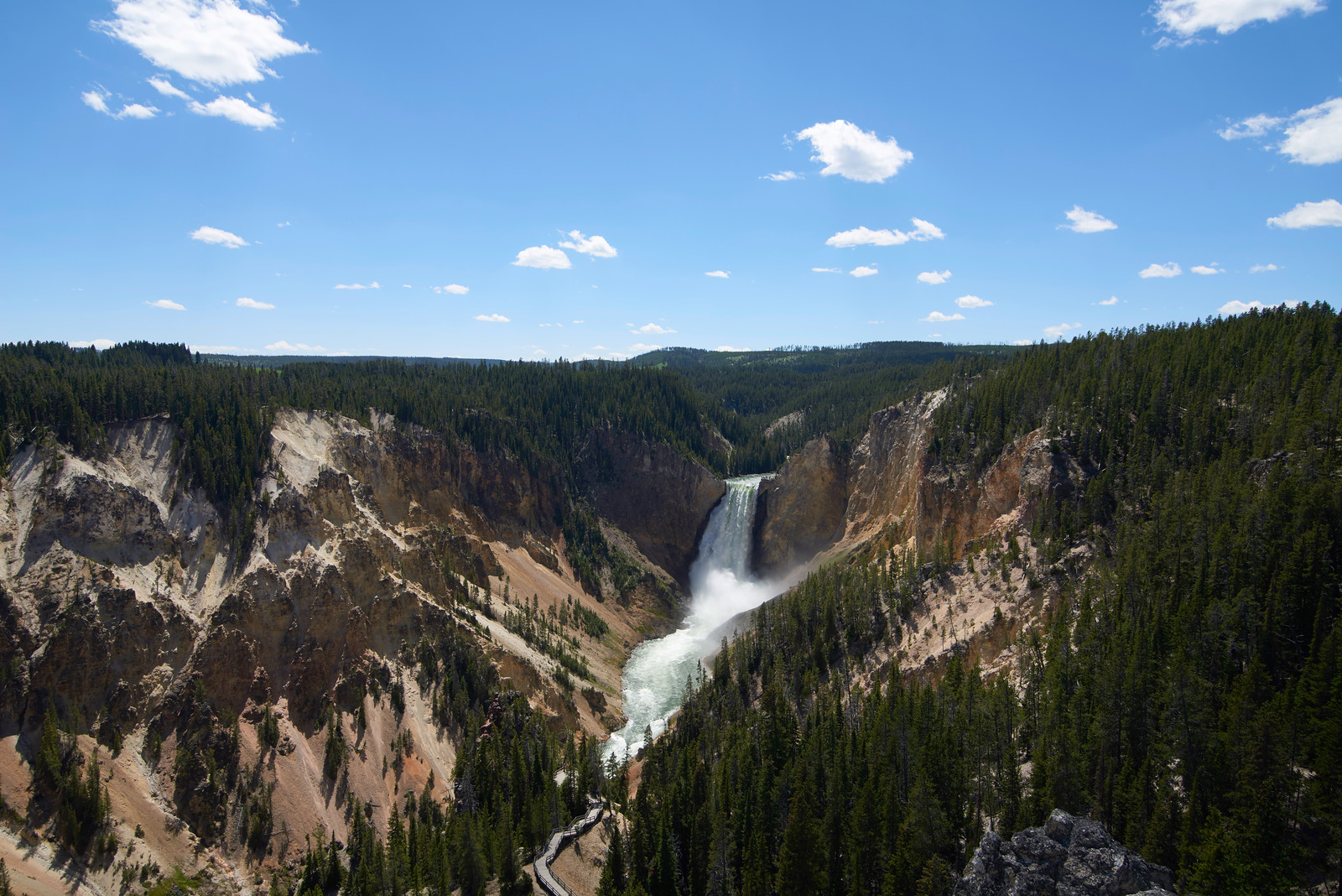 Grand Canyon of Yellowstone, Lower Falls