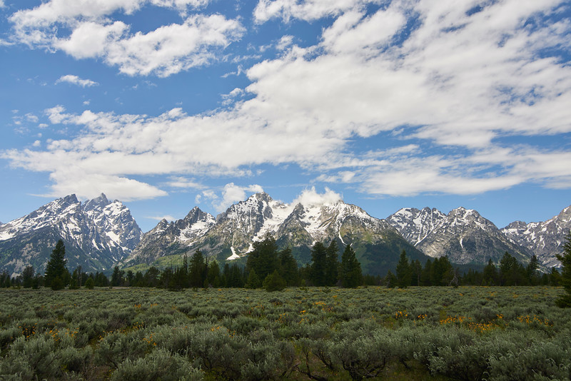 Grand Tetons from Mountain View Turnout