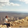 Looking South from Mt. Washburn. <br /> Grand Canyon in lower center. <br /> Yellowstone Lake right center