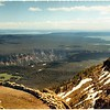 Looking South from Mt. Washburn. <br /> Grand Canyon middle left.  <br /> Lake Yellowstone upper right. <br />  Grand Tetons on horizon.