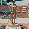 Statue of Abner Weed, founder of Weed, California