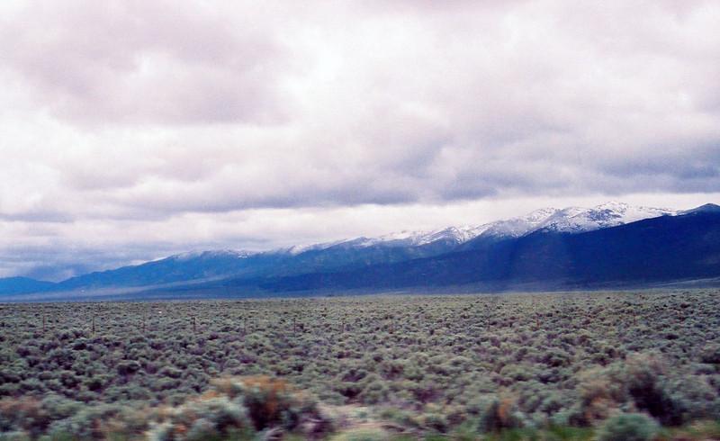 New snow, Nevada mountains.