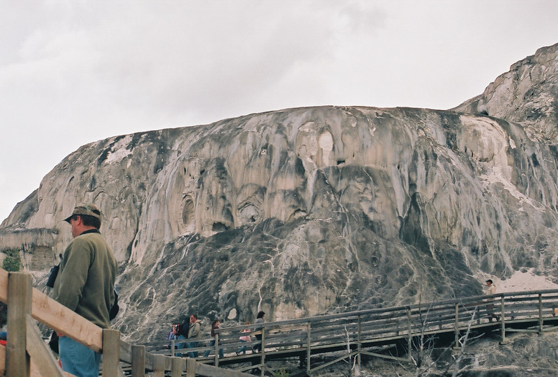 Mammoth Hot Springs.  When I took this shot I was nearly freezing - a hail storm had come up, and I only had a sweater on.